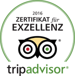 Gerners TripAdvisor Zertifikat für Exzellenz